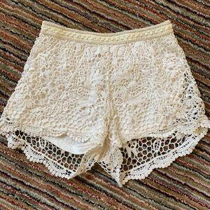 Boho lace shorts